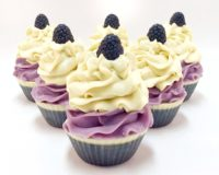 Black Raspberry Vanilla Vegan Cupcake Soap with Activated Charcoal - Signature