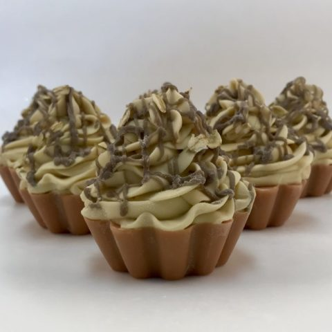Overnight Oats Soap Cupcake