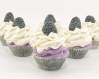 Black Raspberry Vanilla Mini Cupcakes